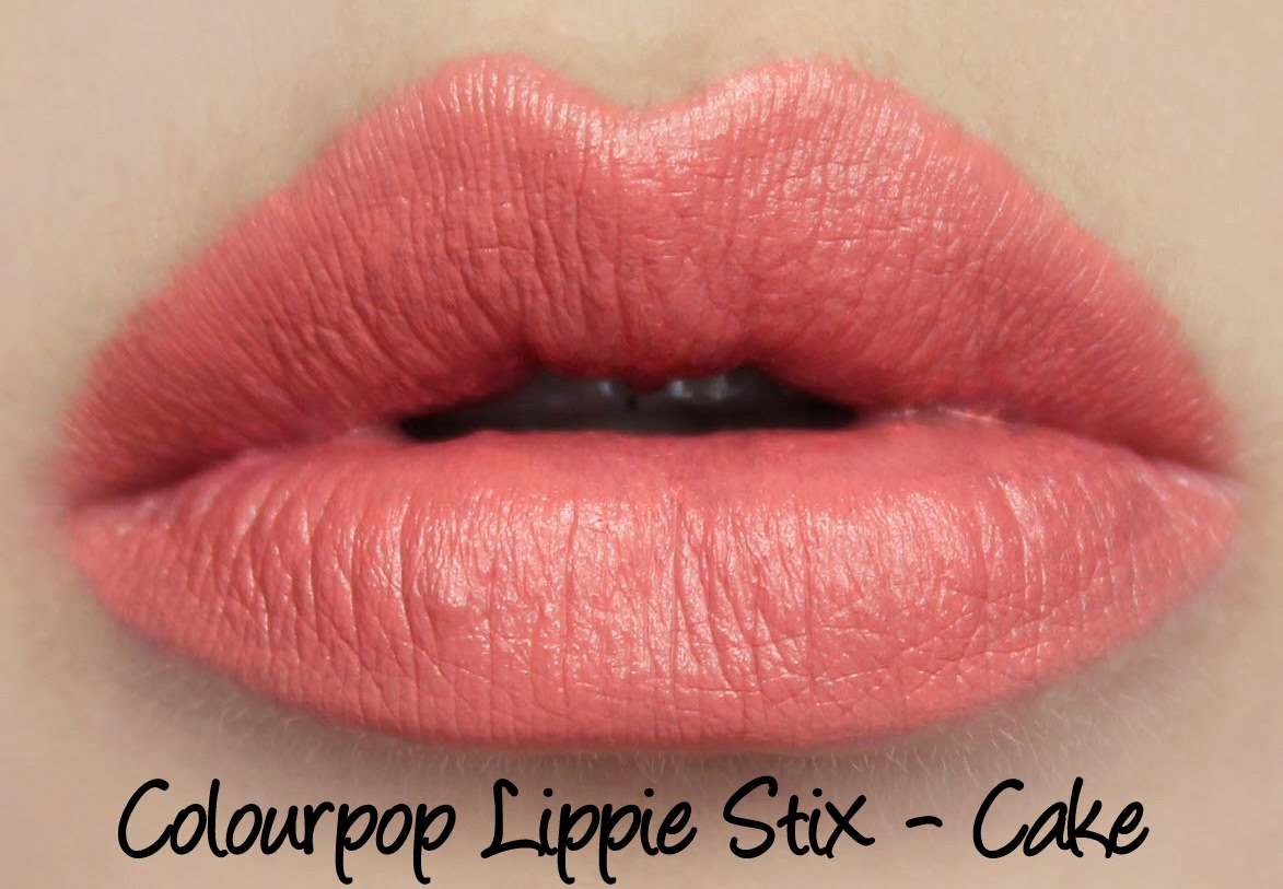 ColourPop Lippie Stix - Cake Swatches & Review