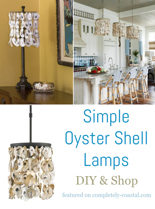 Oyster Shell Lamps Tutorial & Shopping