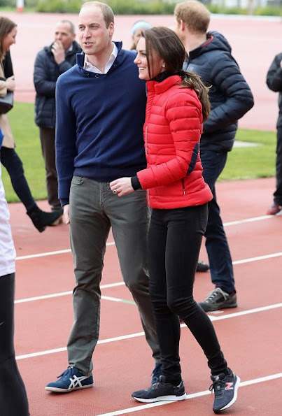Prince William, Kate Middleton and Prince Harry join Team Heads Together at a London Marathon Training Day
