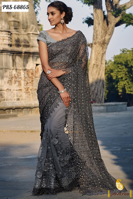Pure Net Designer Sarees Online With Low Prices Discount Sale In India