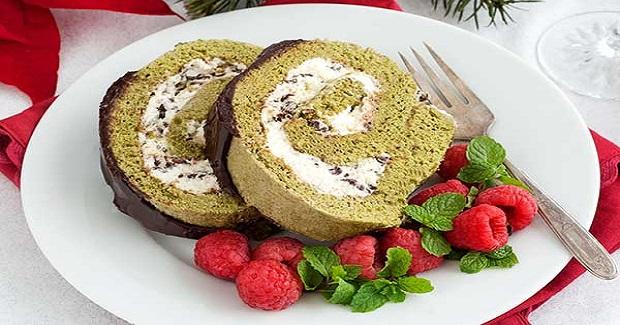 Gluten Free Matcha Chocolate Swiss Roll Cake Recipe
