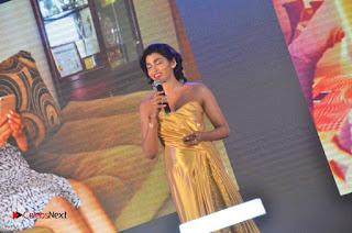 Actress Dhansika Stills in Golden Long Dress at Vivo V5 Mobile Launch .COM 0030.jpg