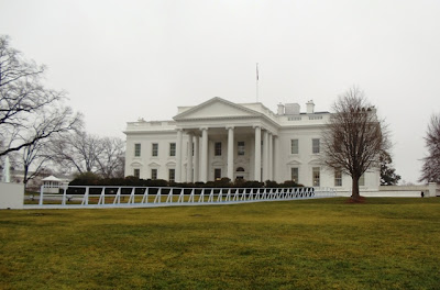 2013 presidential inauguration set up at White House
