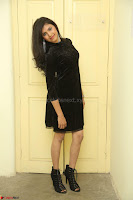 Mounika in a velvet short black dress for Tick Tack Movie Press Meet March 2017 097.JPG