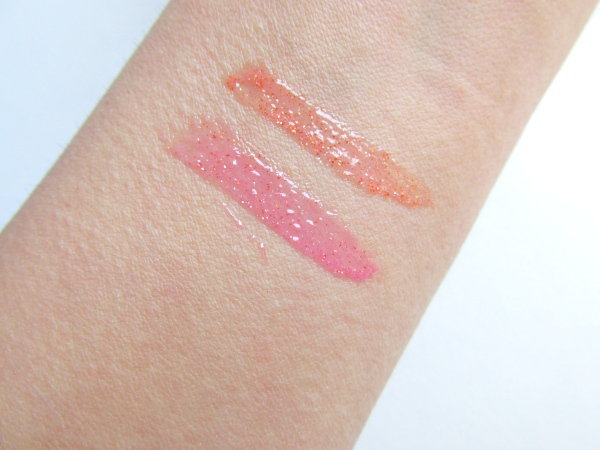 essence  Party Look Make-up Box swatches Lipglosses