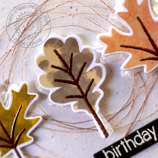 Sunny Studio Stamps: Autumn Splendor Fall Leaves Birthday Card By Anni Lerche.