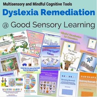 Collection of dyslexia remedial tools at Good Sensory Learning