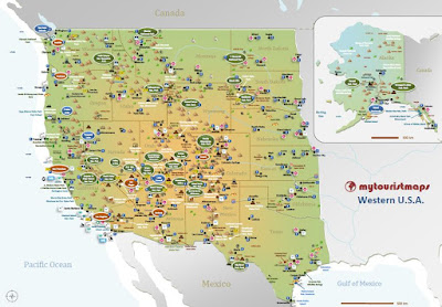 mytouristmapscom interactive tourist map WESTERN USA
