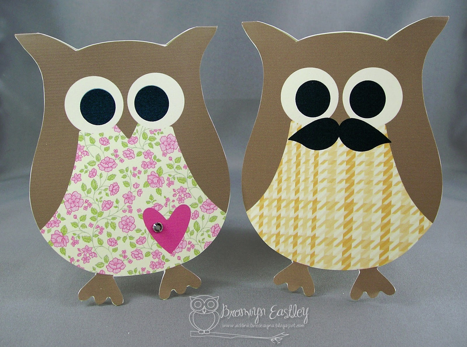 Addinktive Designs At Blogger Making Owl Cards With Mds And The Digital Owl Punch