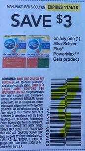 $3.00 off Alka Seltzer Plus Cold & Flu PowerMax Gels Coupon