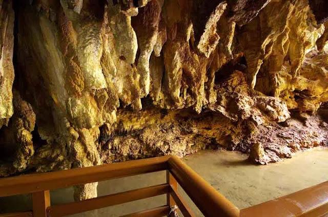 walkway inside cave