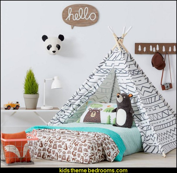 Camp Kiddo Room Collection fun woodland theme bedrooms