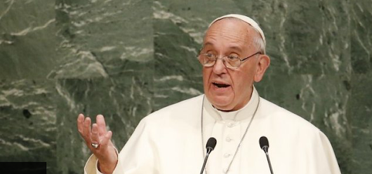 Pope Francis stresses 'right to environment' in UN speech