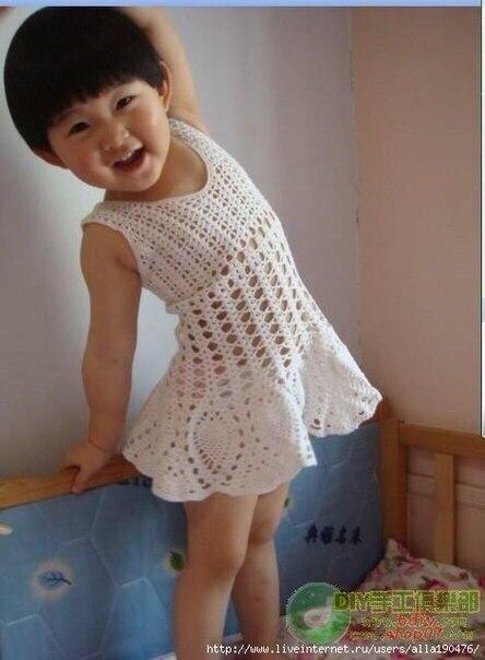 Vestido verano nina crochet