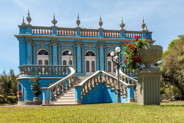 Palacete Leão Júnior (Solar dos Leões) na Av. João Gualberto.