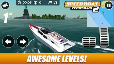 لعبة speed boat racing للأندرويد، لعبة speed boat racing مدفوعة للأندرويد