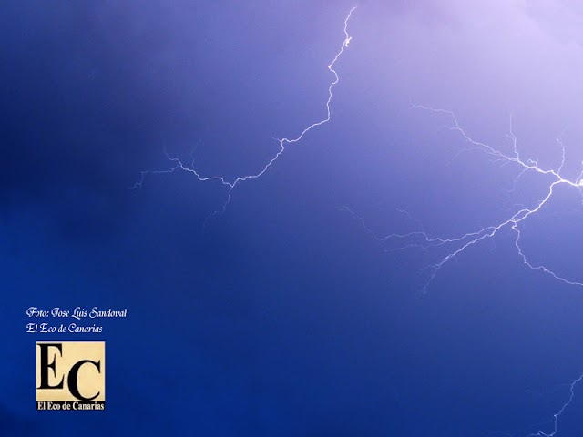 Tormenta eléctrica en Gran Canaria y breves apagones, 19 febrero