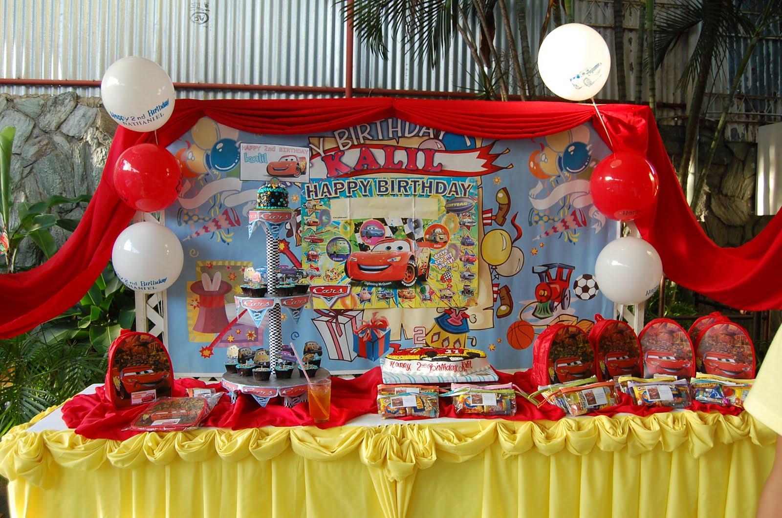 Party Of Three Kalils Car Theme Birthday