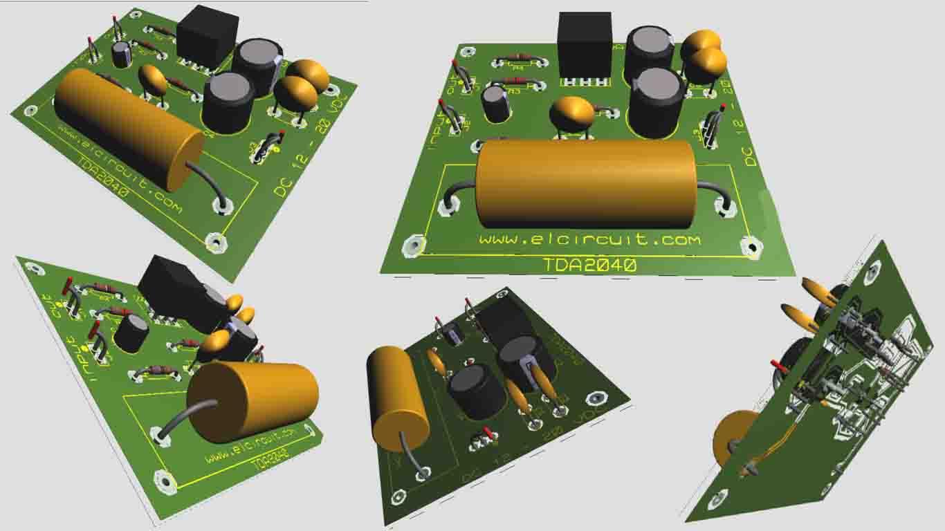 Tda2040 Power Amplifier Circuit Circuits T And Transistors Bd908 Bd907 18w Hifi Audio Xtronic