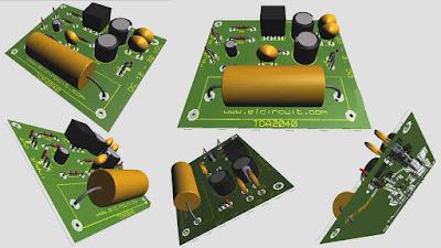 TDA2040 Power Amplifier Circuit monolithic class AB amplifier