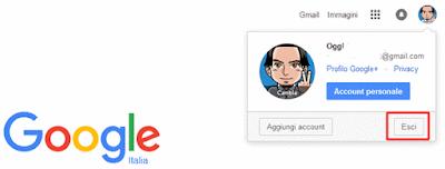 Come disconnettersi da google