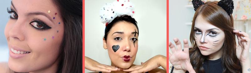 Maquiagem para o carnaval, make, beleza, fantasia improvisada