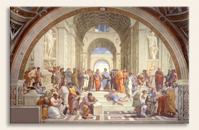 Sanzio de Urbino Raphael Atina Okulu tablosu
