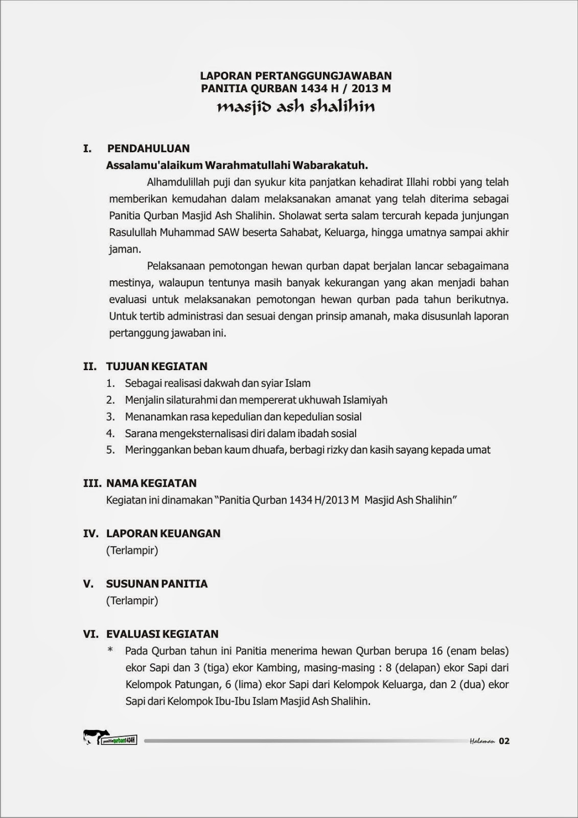 Surat Undangan Panitia Qurban