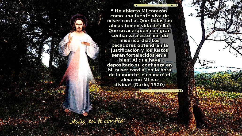 la divina misericordia con mensaje