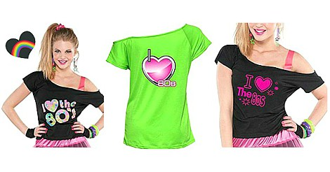I love the 80s T-shirts for Women montage