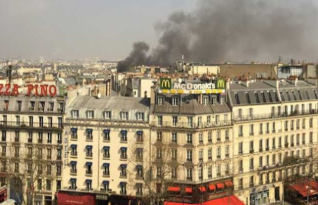 पेरिस- रिहायशी बिल्डिंग में गैस की पाइपलाइन फटने से धमाका