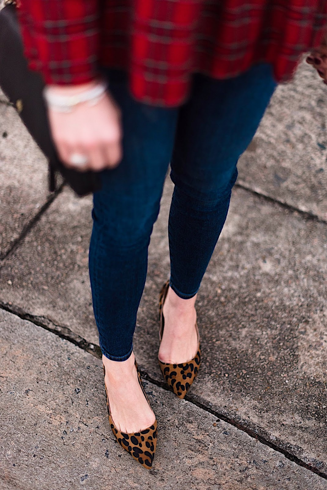 Print Mixing: Plaid Top + Leopard Pumps - Something Delightful Blog