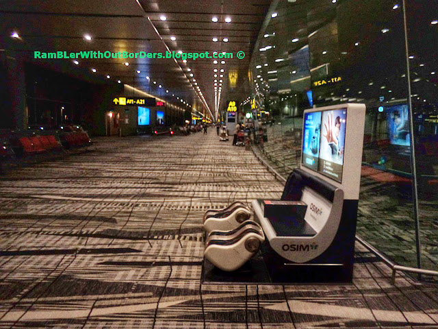 OSIM foot massage machine, Departure Hall, T3, Changi Airport, Singapore