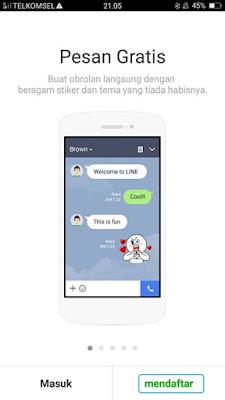 Daftar LINE di Android 1