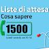 Liste d'attesa: attivo il numero verde 1500