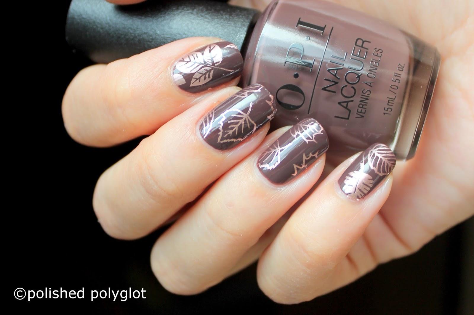 Nail Art │ Simple autumn nails [26GNAI] / Polished Polyglot