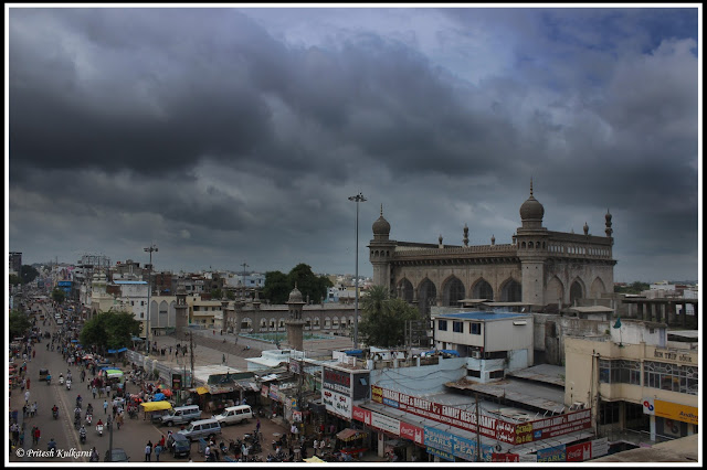 Mecca Masjid view from Charminar