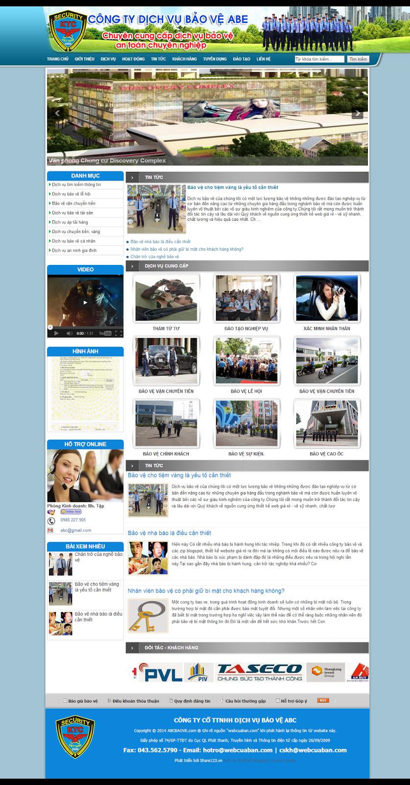 Mẫu website bảo vệ bằng blogspot đẹp