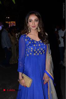 Telugu Actress Tejaswi Madivada Pos in Blue Long Dress at Nanna Nenu Na Boyfriends Audio Launch  0082.JPG