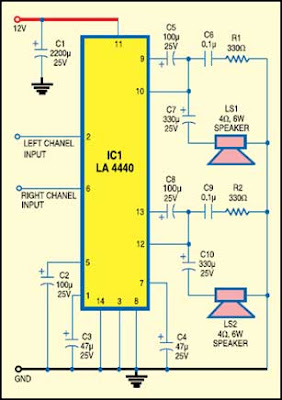 Laptop Audio Amplifier-IC LA 4440