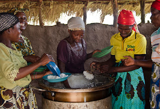Cooking rice in Senegal