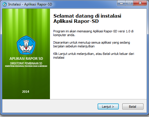 DOWNLOAD RAPORT SD KURIKULUM 2013 DIREKTORAT PEMBINAAN SD