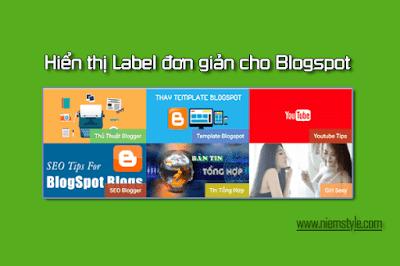hien thi label bang hinh anh don gian cho blogspot