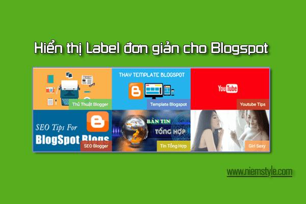 Hiển thị Label bằng hình ảnh đơn giản cho blogspot