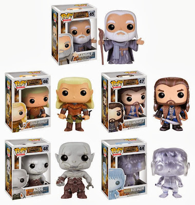 The Hobbit: The Desolation of Smaug Pop! Vinyl Figures by Funko - Gandalf the Grey, Legolas Greenleaf, Thorin Oakenshield, Azog & Invisible Bilbo Baggins