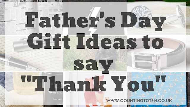 A collage post of product images below saying Father's Day Gift Ideas to say thank you