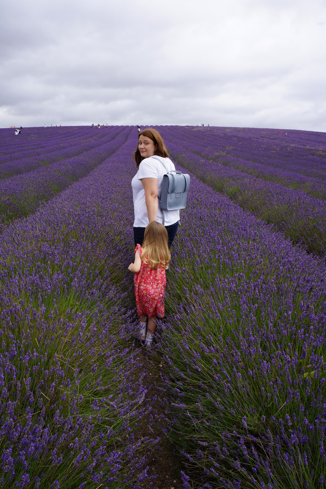 mum and daughter at lavender fields