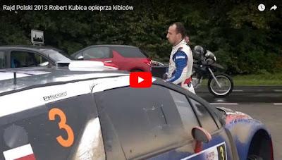 Rajd Polski 2013 Robert Kubica opiep*za kibiców