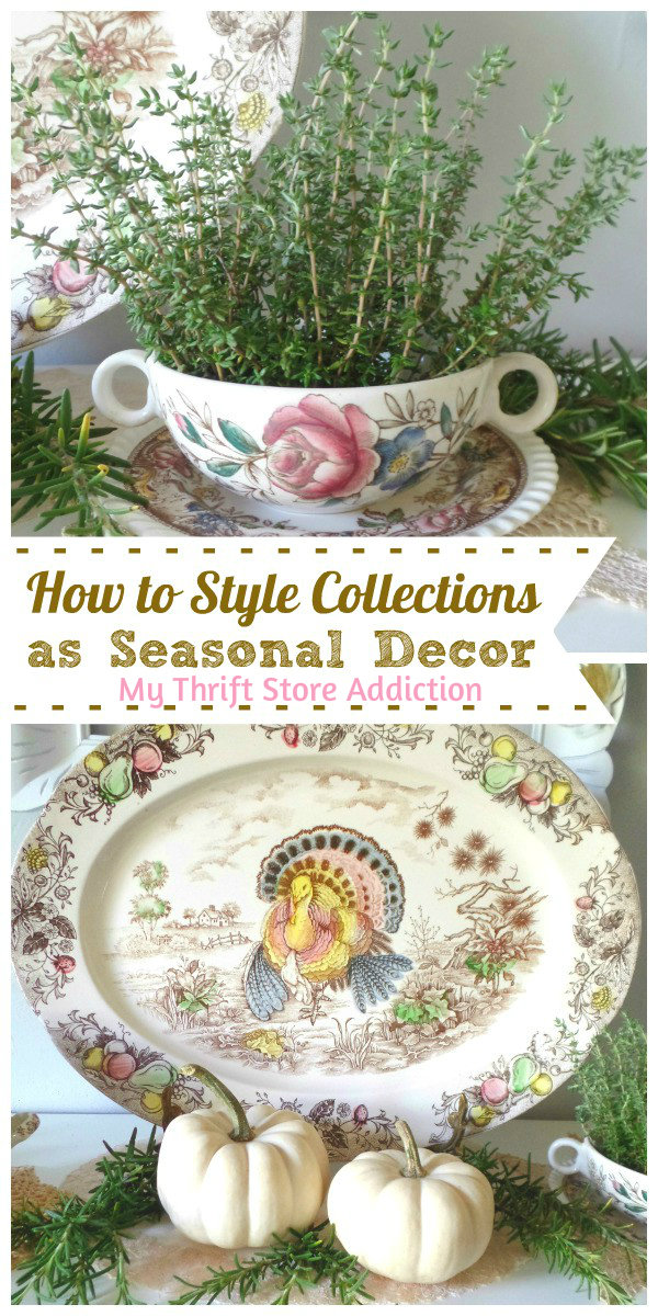 how to style collections as seasonal decor