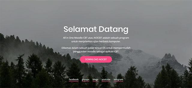 tampilan web resmi aiocbt